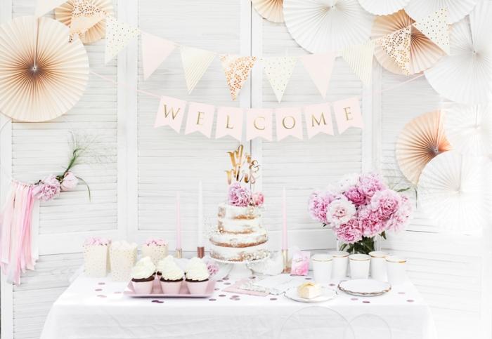 Banner Welcome (Bine ati venit!), roz deschis, 15 x 95 cm 0