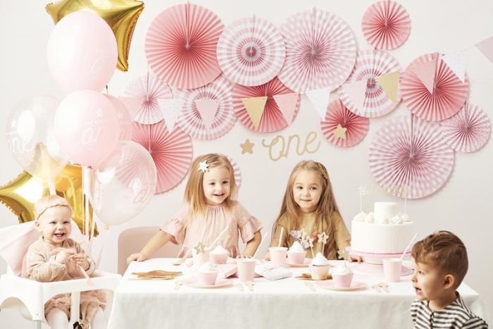Cake topper prima aniversare, auriu 5