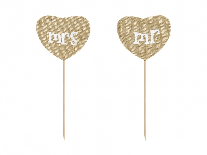 Cake Toppers Mr Mrs, 18.5cm [2]