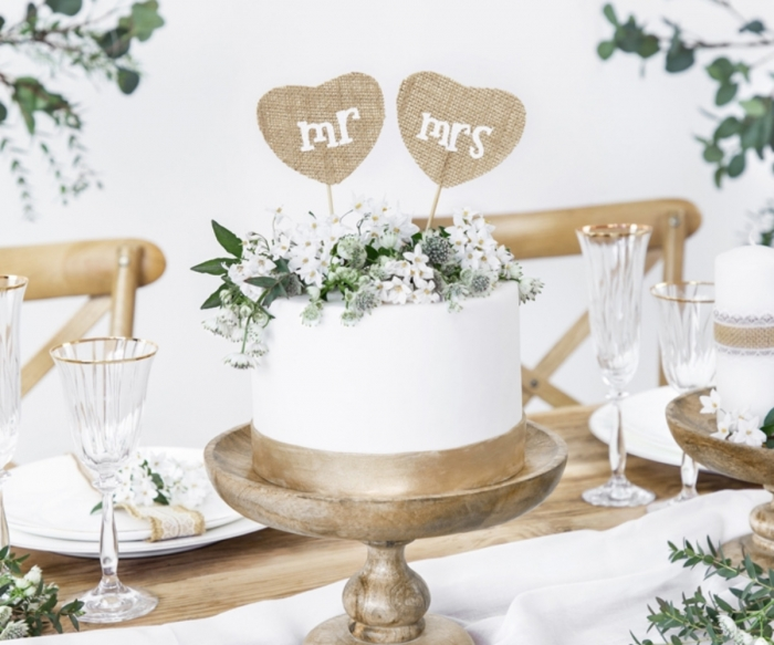 Cake Toppers Mr Mrs, 18.5cm [1]