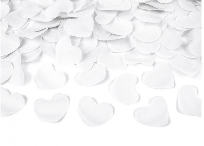 Confetti cannon inimioare albe, 40 cm 1