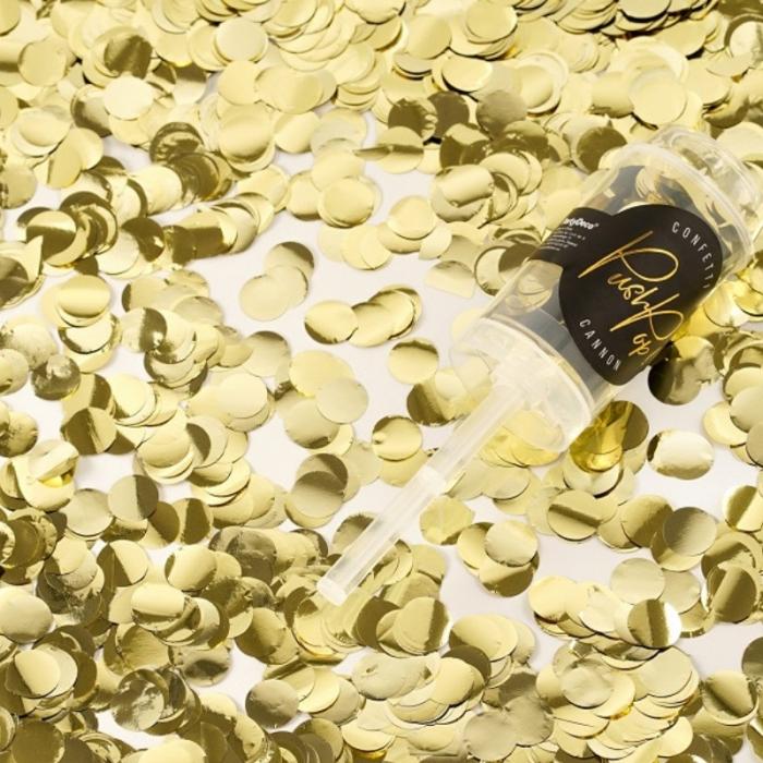 Confetti push pop, aurii 0