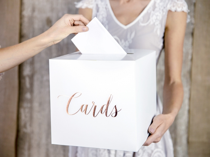 Cutie dar nunta - Cards, rose gold, 24x24x24cm 1