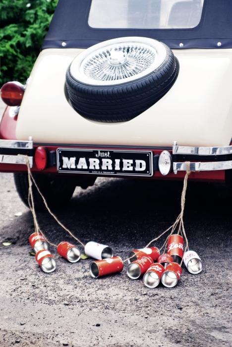 Cutii masini nunta retro 14 x 7cm (1 pach / 5 buc) 1