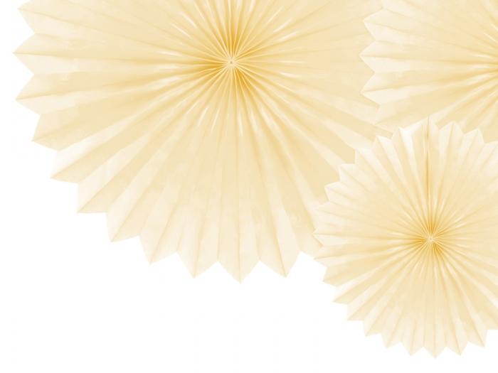 Evantaie decorative, crem deschis, 20-40cm 2