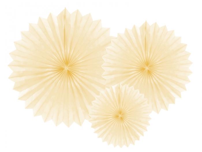 Evantaie decorative, crem deschis, 20-40cm 0