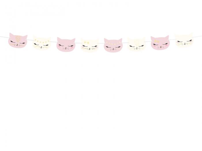 Ghirlanda pisicute, aniversare fetite, mix, 1.4m 5