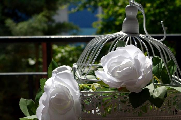 Ghirlanda trandafiri albi (1.75m) 3