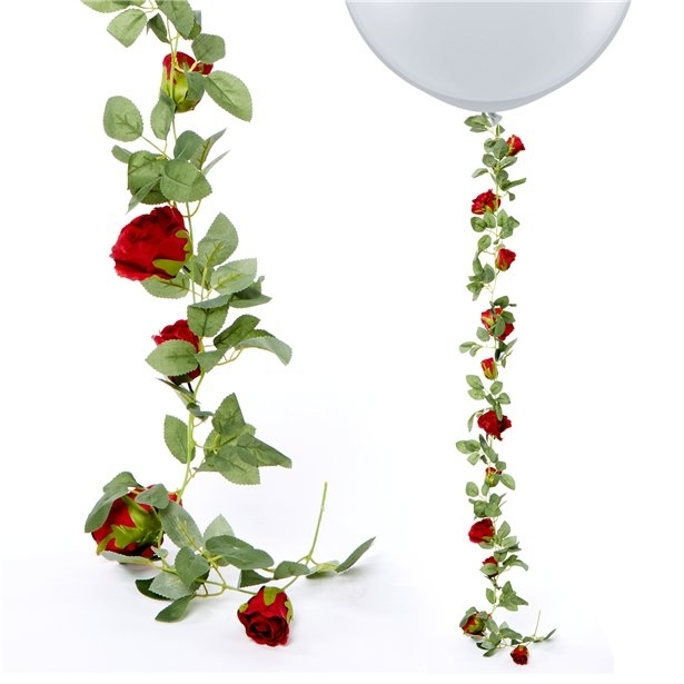 Ghirlanda trandafiri rosii (1.75m) 0