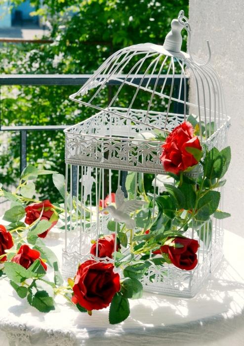 Ghirlanda trandafiri rosii (1.75m) 4