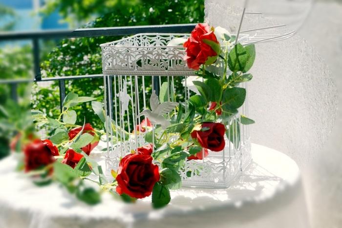 Ghirlanda trandafiri rosii (1.75m) 3