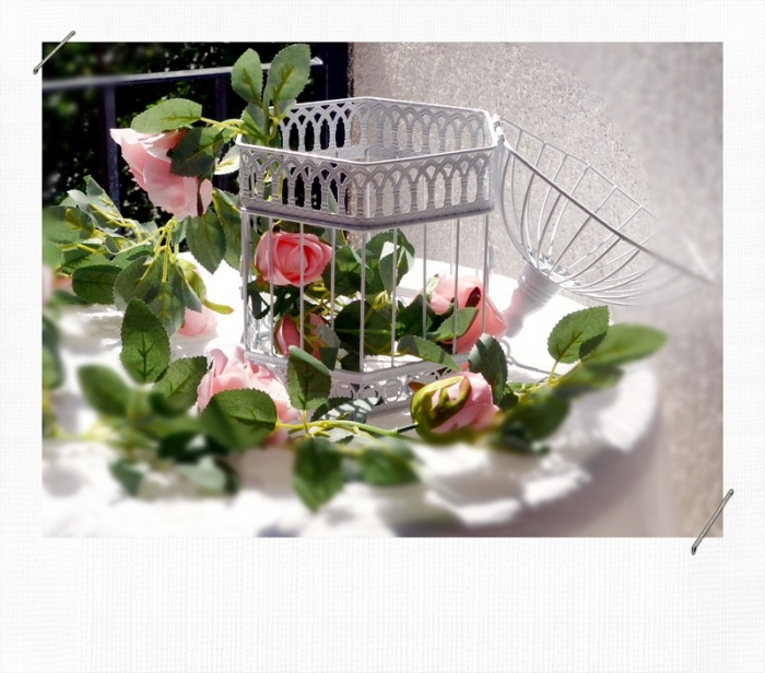 Ghirlanda trandafiri roz (1.75m) 5