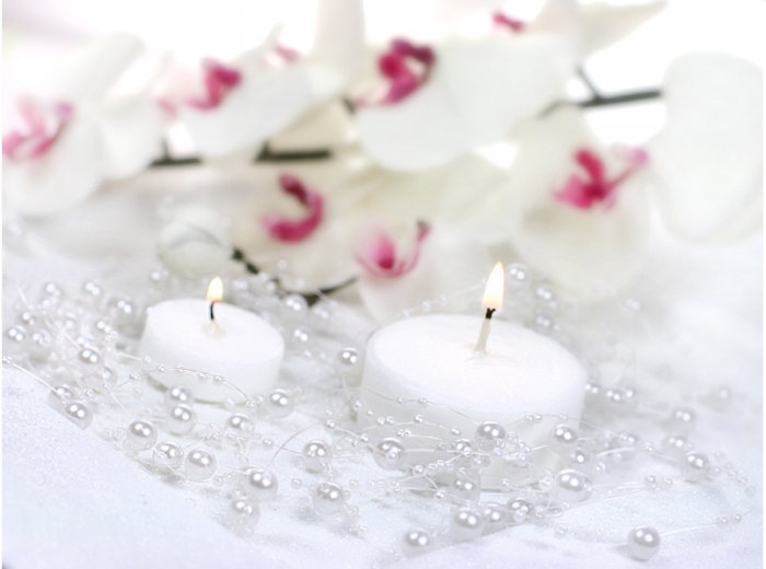 Ghirlande perla albe 1.3m 1