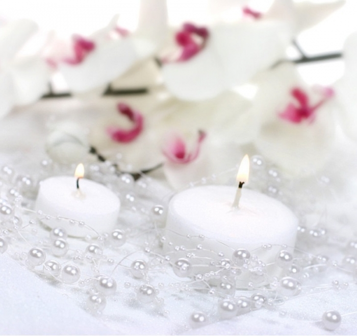 Ghirlande perla albe 1.3m 0