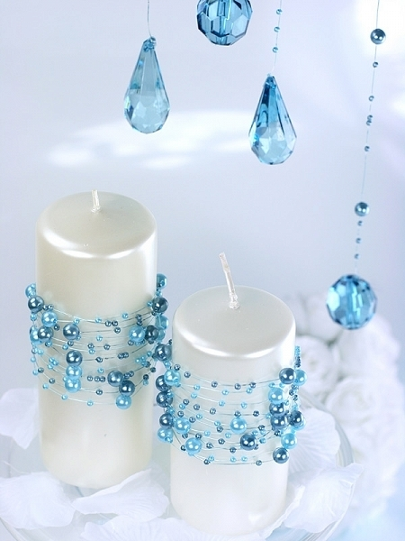 Ghirlande perla turcoaz, 1.3m [0]