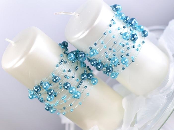Ghirlande perla turcoaz, 1.3m [1]