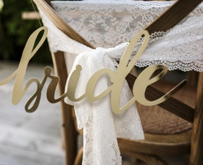 Indicatoare scaun Bride&Groom auriu [1]