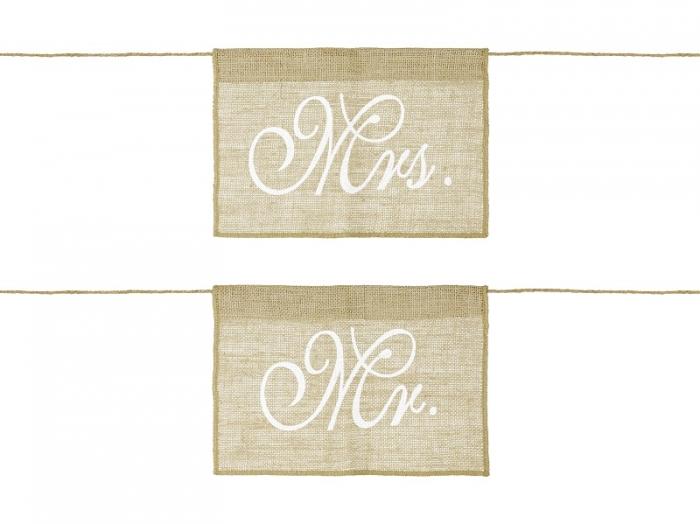 Indicatoare scaun miri Mr&Mrs (1 pach/2buc) 1