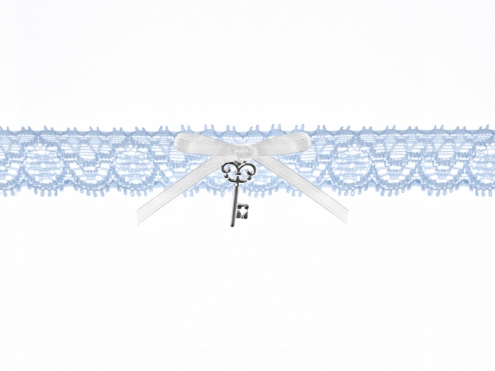 Jartiera dantela bleu cu pandativ cheita 1