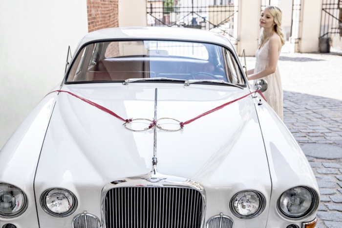 Kit decoratiune masina nunta, rosu intens 5