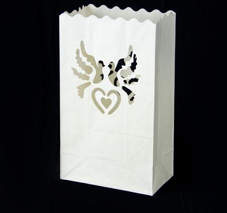Lampioane lumanari motiv porumbei 15 x 9 x 26cm (1 pac / 10 buc) 6