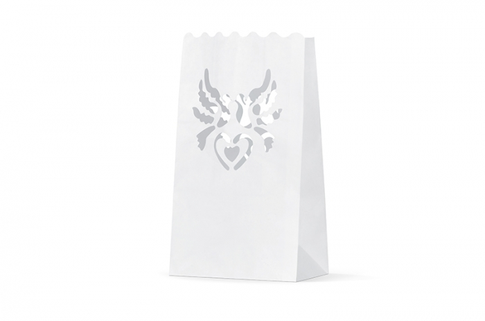 Lampioane lumanari motiv porumbei 15 x 9 x 26cm (1 pac / 10 buc) 7