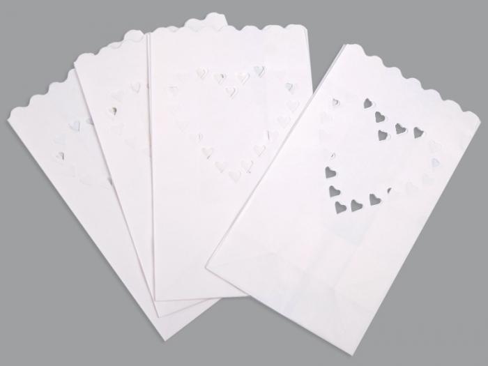 Lampioane lumanari Inima decorativa 15 x 9 x 26cm (1 pach / 10 buc) 6