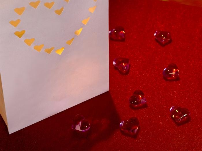 Lampioane lumanari Inima decorativa 15 x 9 x 26cm (1 pach / 10 buc) 3
