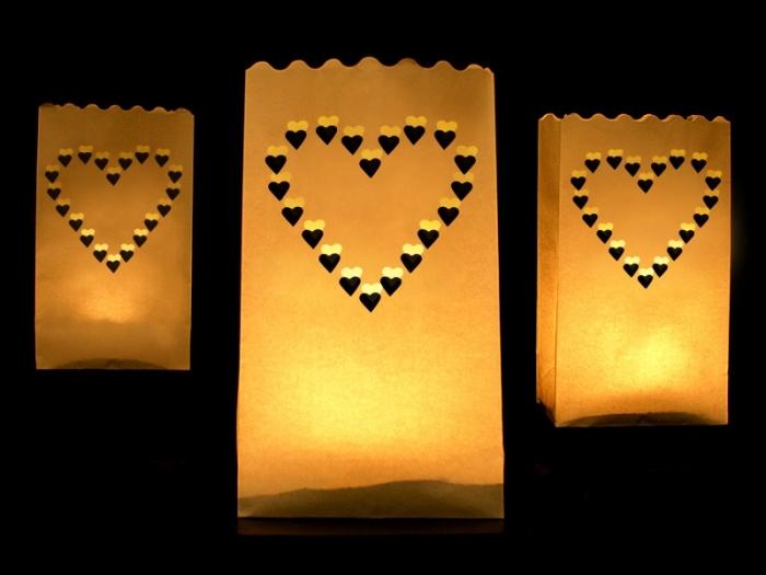 Lampioane lumanari Inima decorativa 15 x 9 x 26cm (1 pach / 10 buc) 2