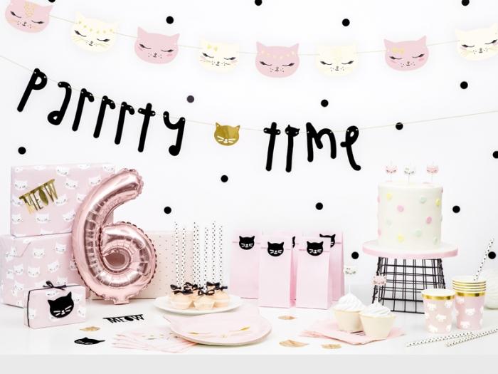 Lumanarele zi de nastere Cat, pentru fetite, mix, 2cm, 6 buc. 4