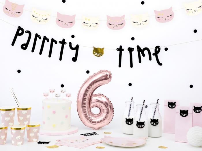 Lumanarele zi de nastere Cat, pentru fetite, mix, 2cm, 6 buc. 3