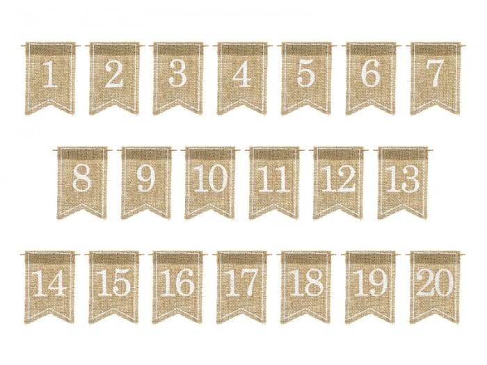 Numere de masa din panza, 7x10.5cm 2