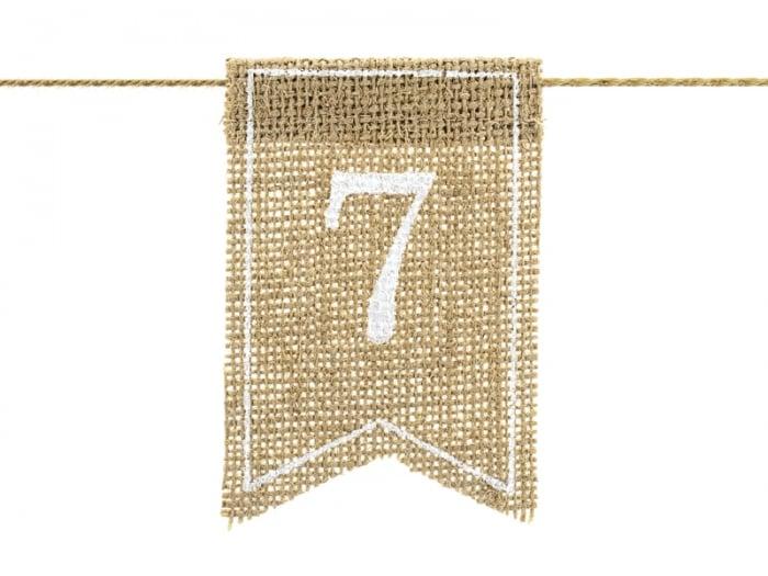 Numere de masa din panza, 7x10.5cm 3
