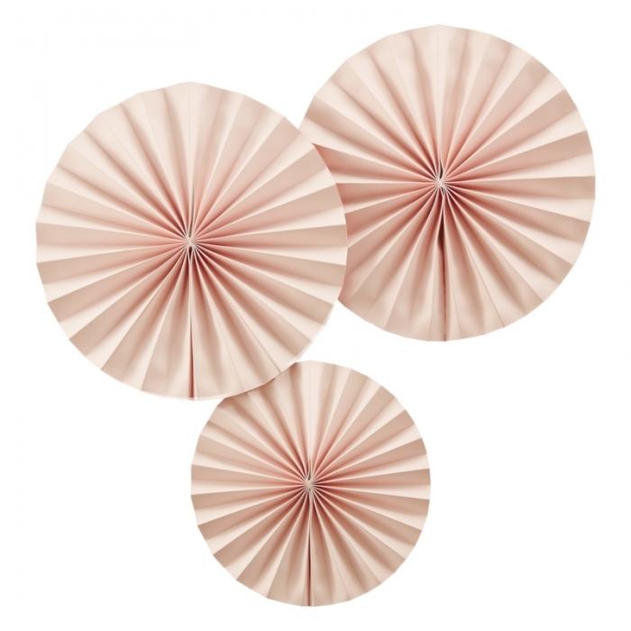 Ornament roz tip evantai, 3 buc. 1