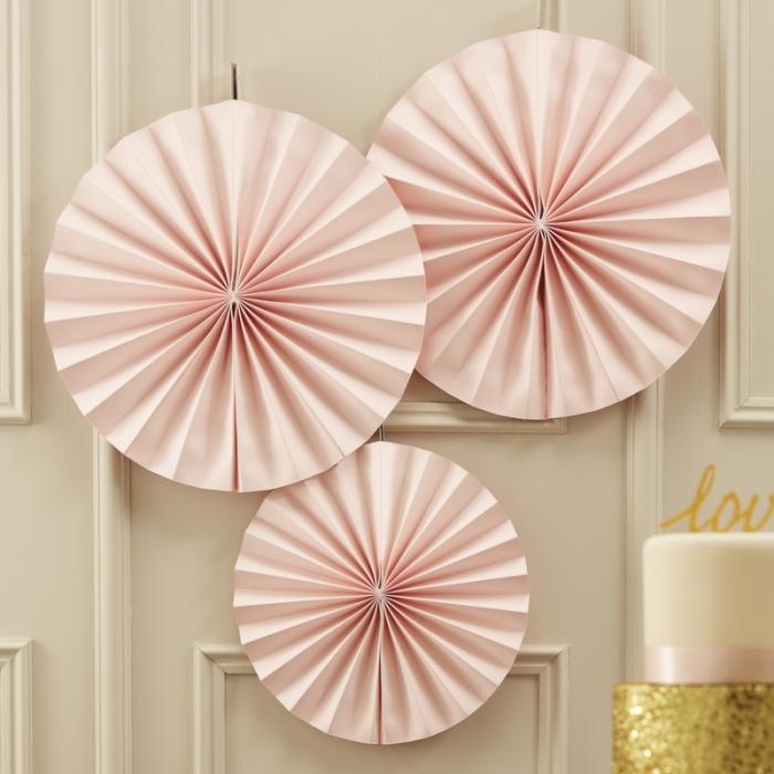 Ornament roz tip evantai, 3 buc. 0