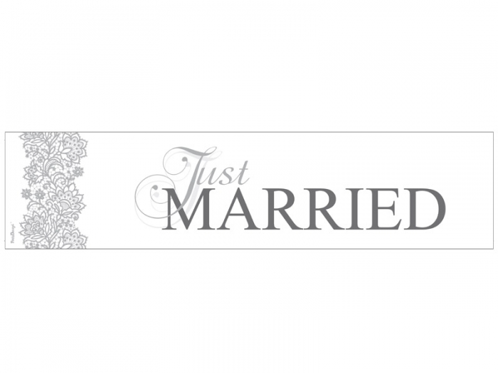 Placuta inmatriculare, Just Married, 50 x 11.5cm 1