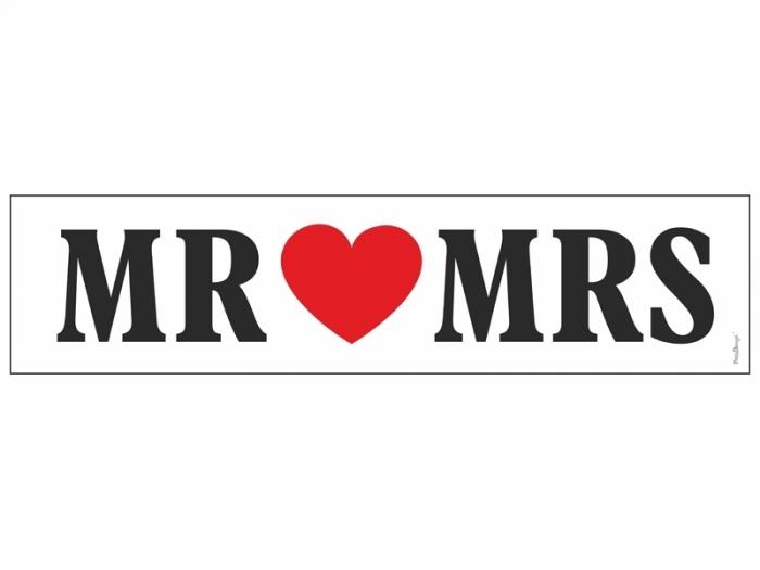 Placute inmatriculare masina nunta Mr&Mrs [0]