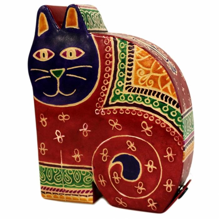 Pusculita Pisica piele imprimata 0