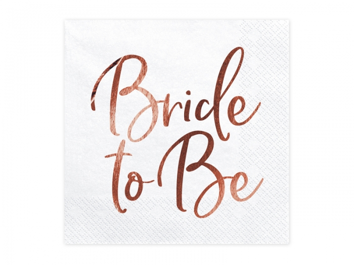 Servetele Bride to be, rose gold, 33x33cm 2