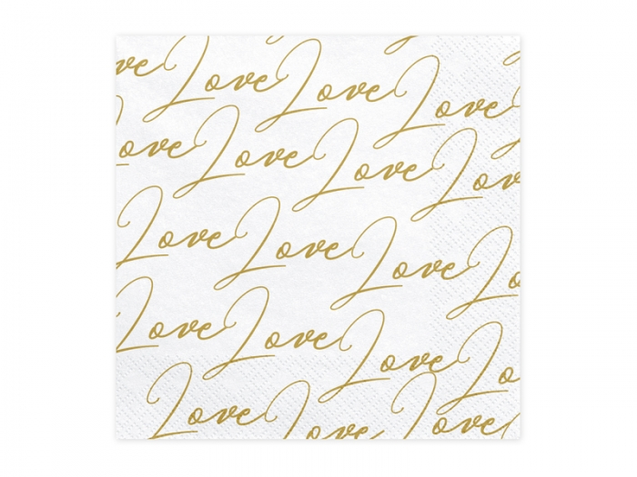 Servetele de hartie cu inscriptia LOVE 3
