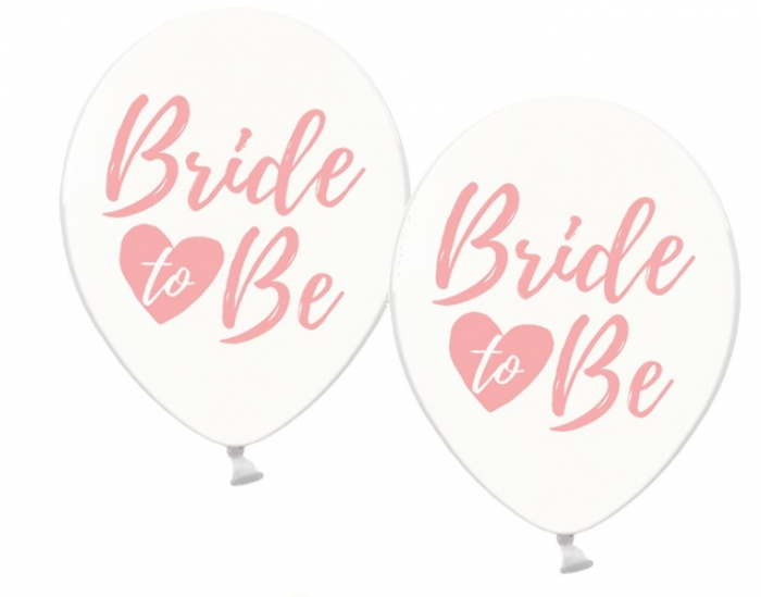 Baloane cu imprimare roz față-verso Bride to be 0