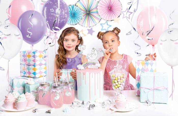 Set decoratiuni Petrecere pentru Fetite Tematica UNICORN 0