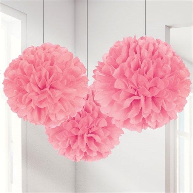 Set decoratiuni pom pom de culoare roz (40 cm) 0