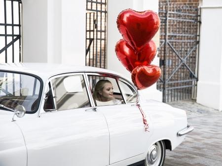 Balon folie metalică in forma de Inima, roșu, diametru aprox. 61 cm.1