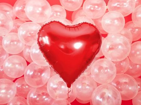 Balon folie metalică in forma de Inima, roșu, diametru aprox. 61 cm.4