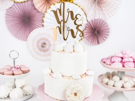 Cake topper Mr&Mrs, auriu 25.5cm2