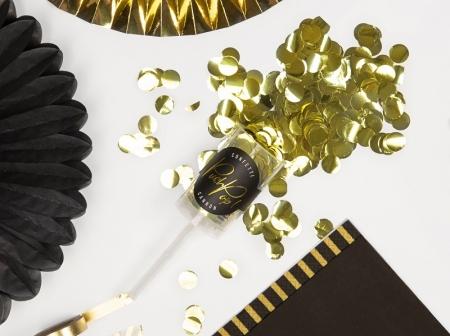 Confetti push pop aurii, tub 10x4cm3
