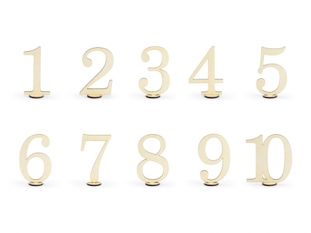 Numere masa din lemn, 10.5cm (1 pach/ 10 pc.)2