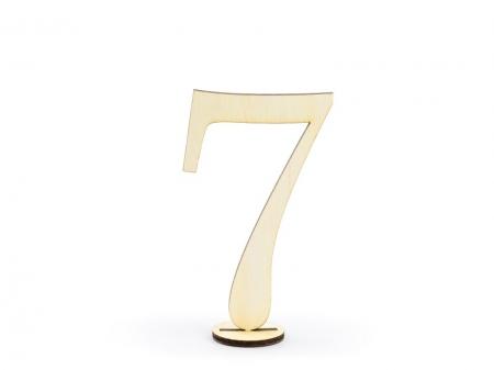 Numere masa din lemn, 10.5cm (1 pach/ 10 pc.)9