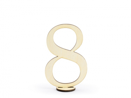 Numere masa din lemn, 10.5cm (1 pach/ 10 pc.)10